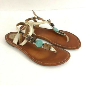 Clarks Artisan Womens Sandals Thong Ankle Strap 10